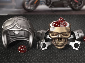 Easy Rider Skull Ring Box with Jewelry Case Insert