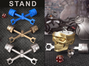 PISTON X STAND for the Easy Rider Motorcycle Style Skull Ring Box