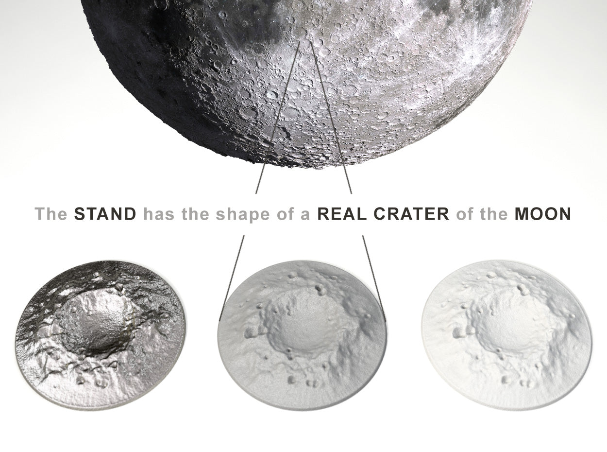 Real Crater Stand for the Full Moon Proposal Nerd Ring Box