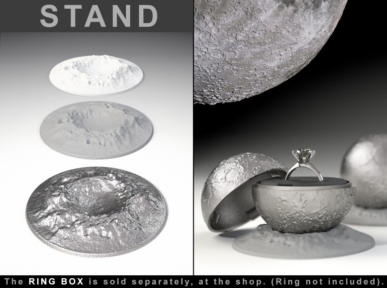 "STAND CRATER to the ""Full Moon Ring / Jewel Box"" - For Proposal, Engagement, and Wedding."