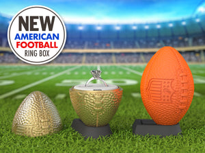 American Football Sports Engagement Ring Box