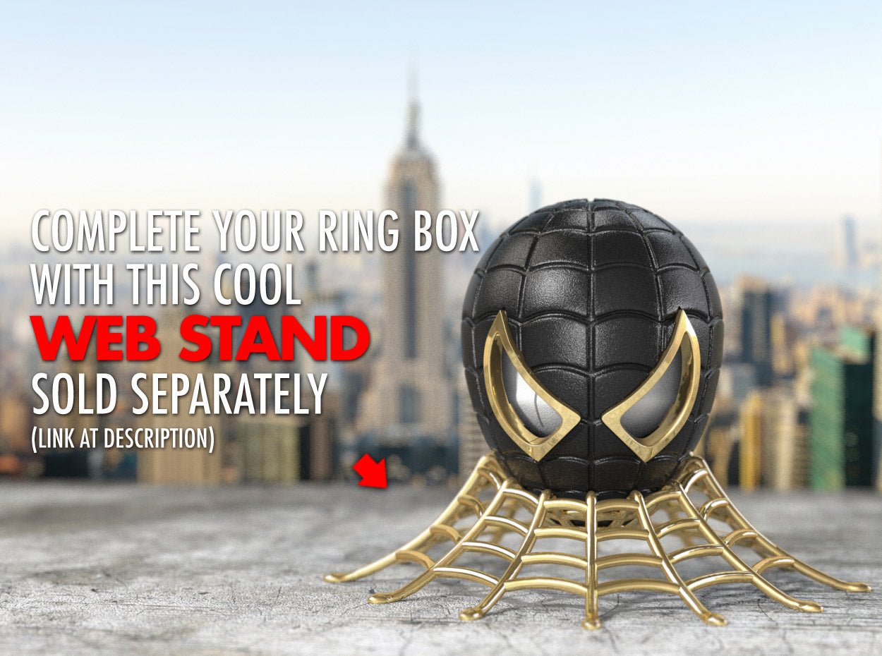 Web Stand for the Spider Superhero Style Nerdy Ring Box
