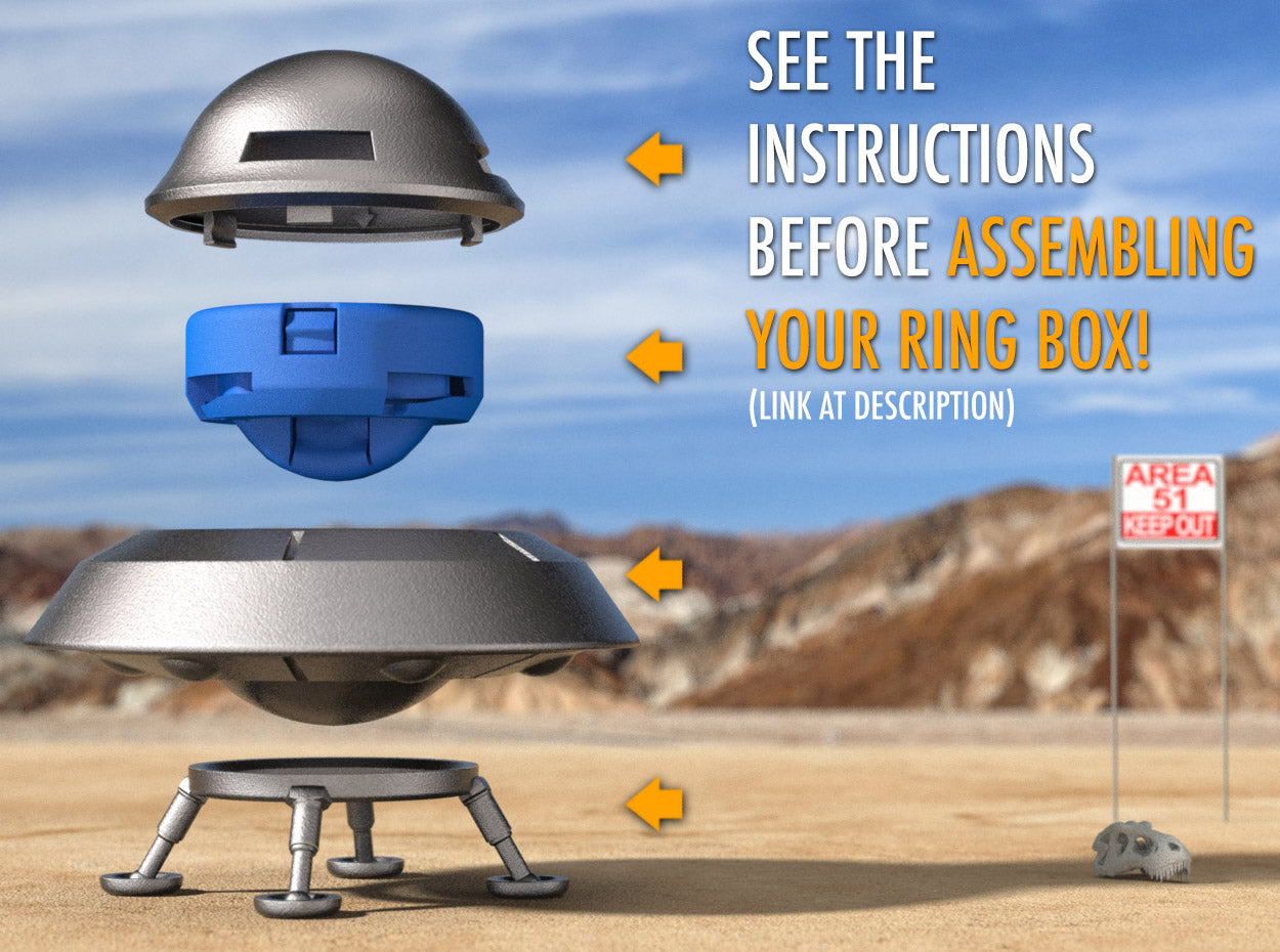 Flying Saucer Nerdy Ring Box Assembly
