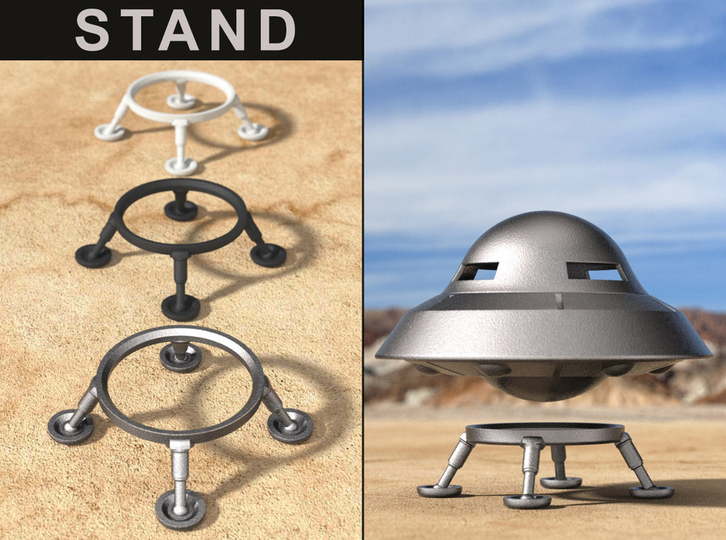 LANDING GEAR STAND for the UFO Retro Sci-Fi Flying Saucer Ring Box