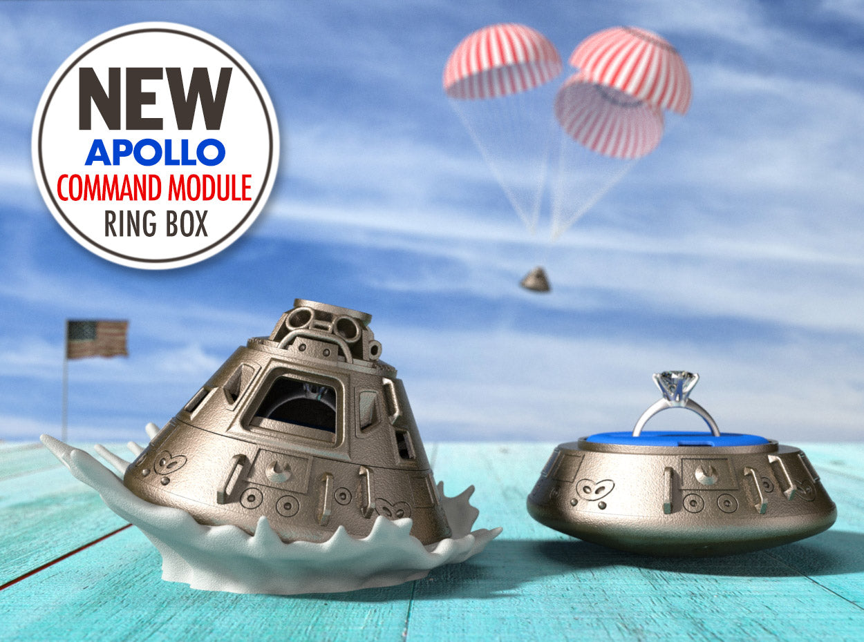 Apollo Command Module Geek Ring Box in Stainless Steel