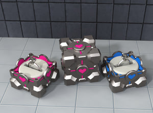 Portal ® Companion Cube Gamer Ring Box (COMPLETE SET)