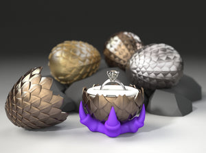 Dragon Egg Game of Thrones Ring Box - Proposal, Engagement, and Wedding Ring Box. ●Code: OPENINGFREE●