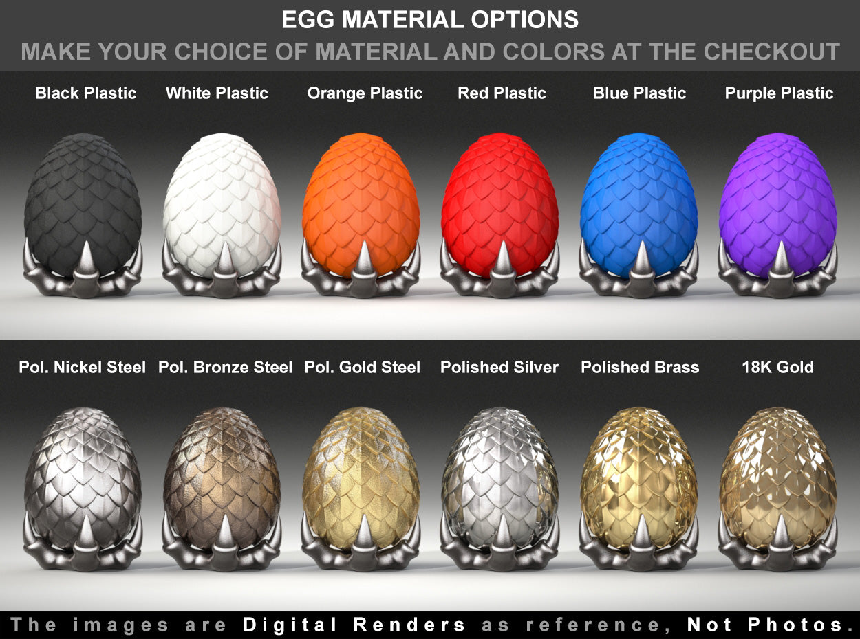 Dragon Egg Engagement Ring Box material options