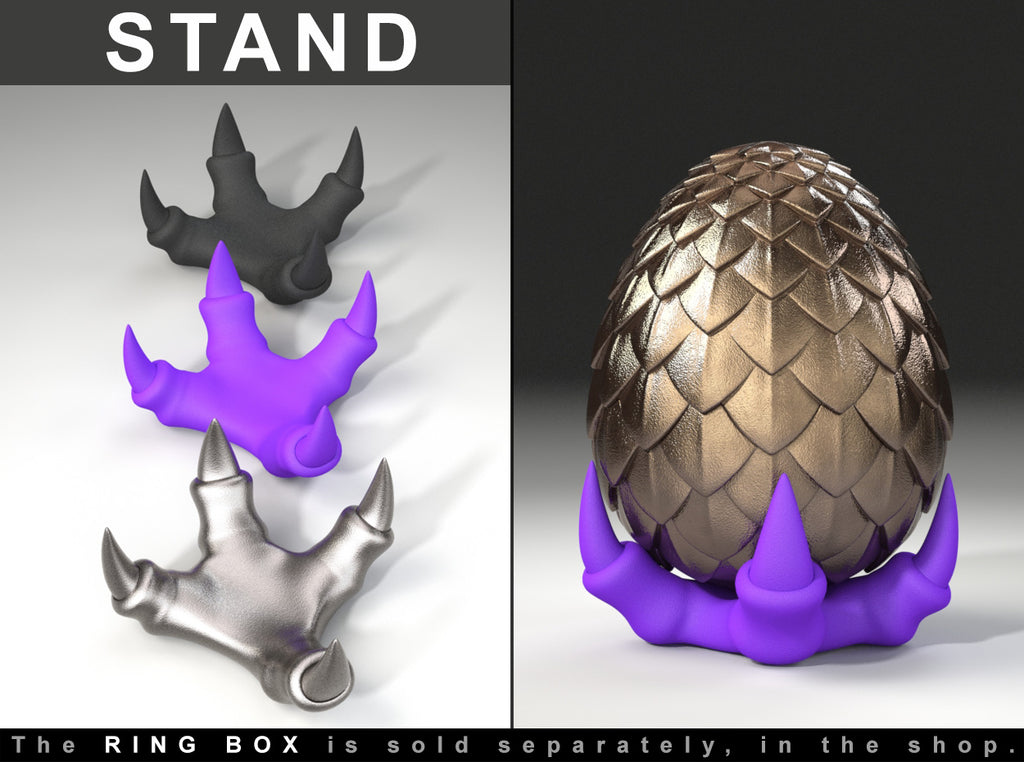 Claw Stand for the Dragon Egg Geek Ring Box