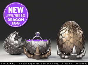 "Dragon Egg ""Game of Thrones Style"" Ring Box"