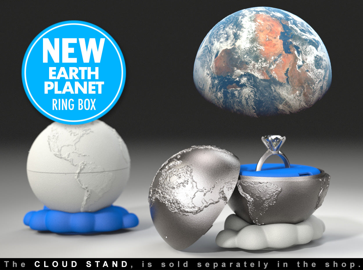 Earth Planet Geek Ring Box