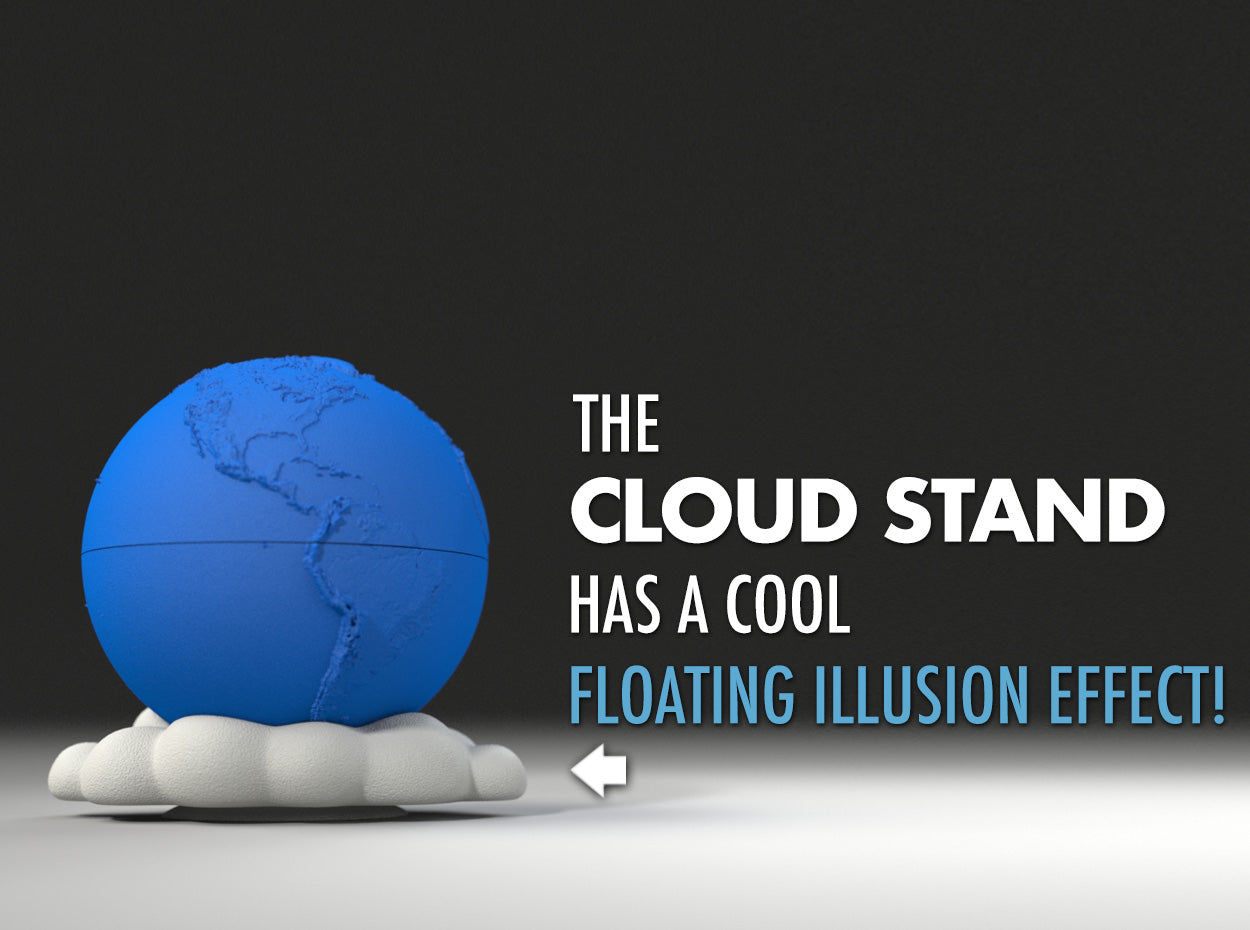 Exclusive Floating Cloud Stand for the Earth Planet Proposal Ring Box