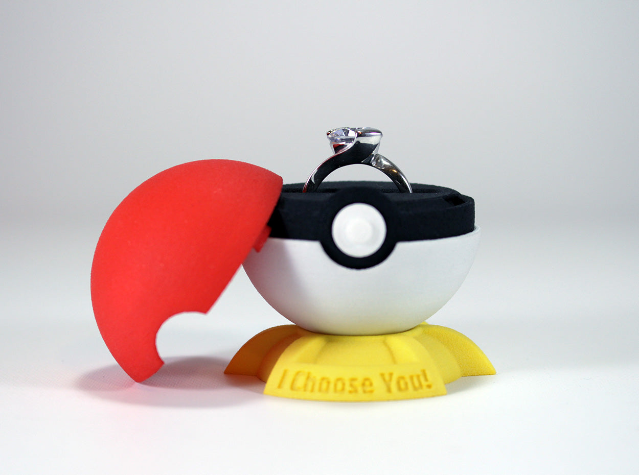 Exclusive Stand for the Pokeball Gamer Engagement Ring Box