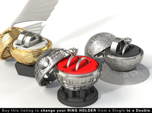Geek Ring Boxes with Double Ring Holders
