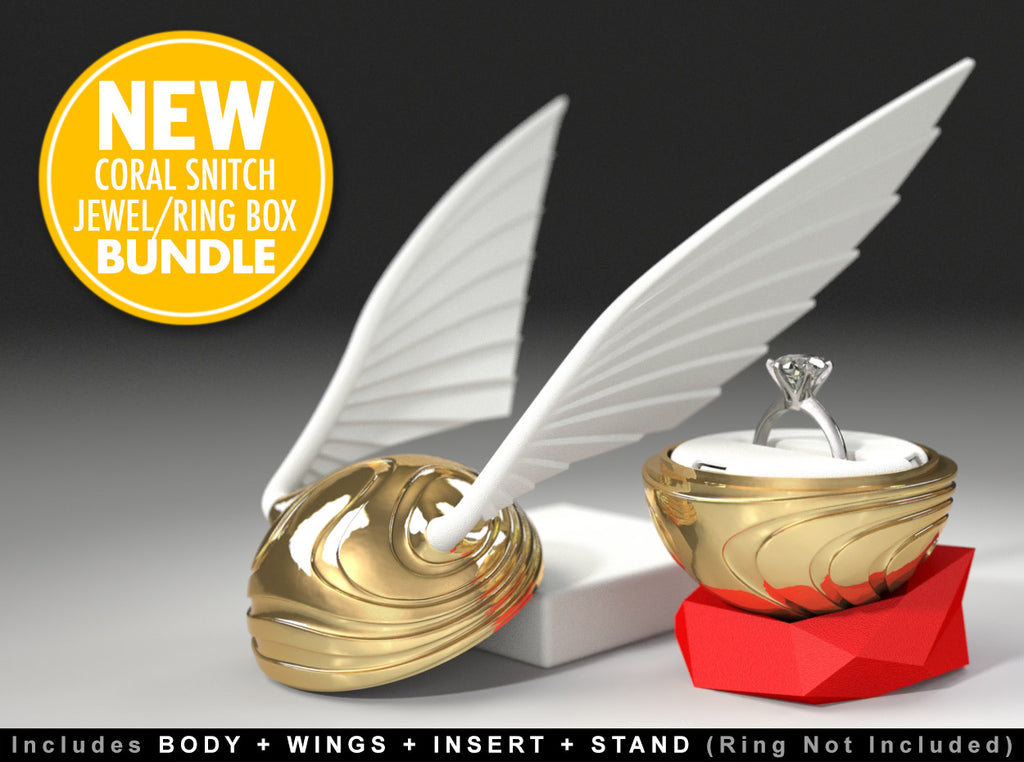 "Coral Snitch ""Fantasy Movie Style"" Ring Box (BUNDLE)"