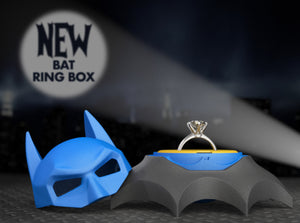 Bat Superhero Style Geek Ring Box