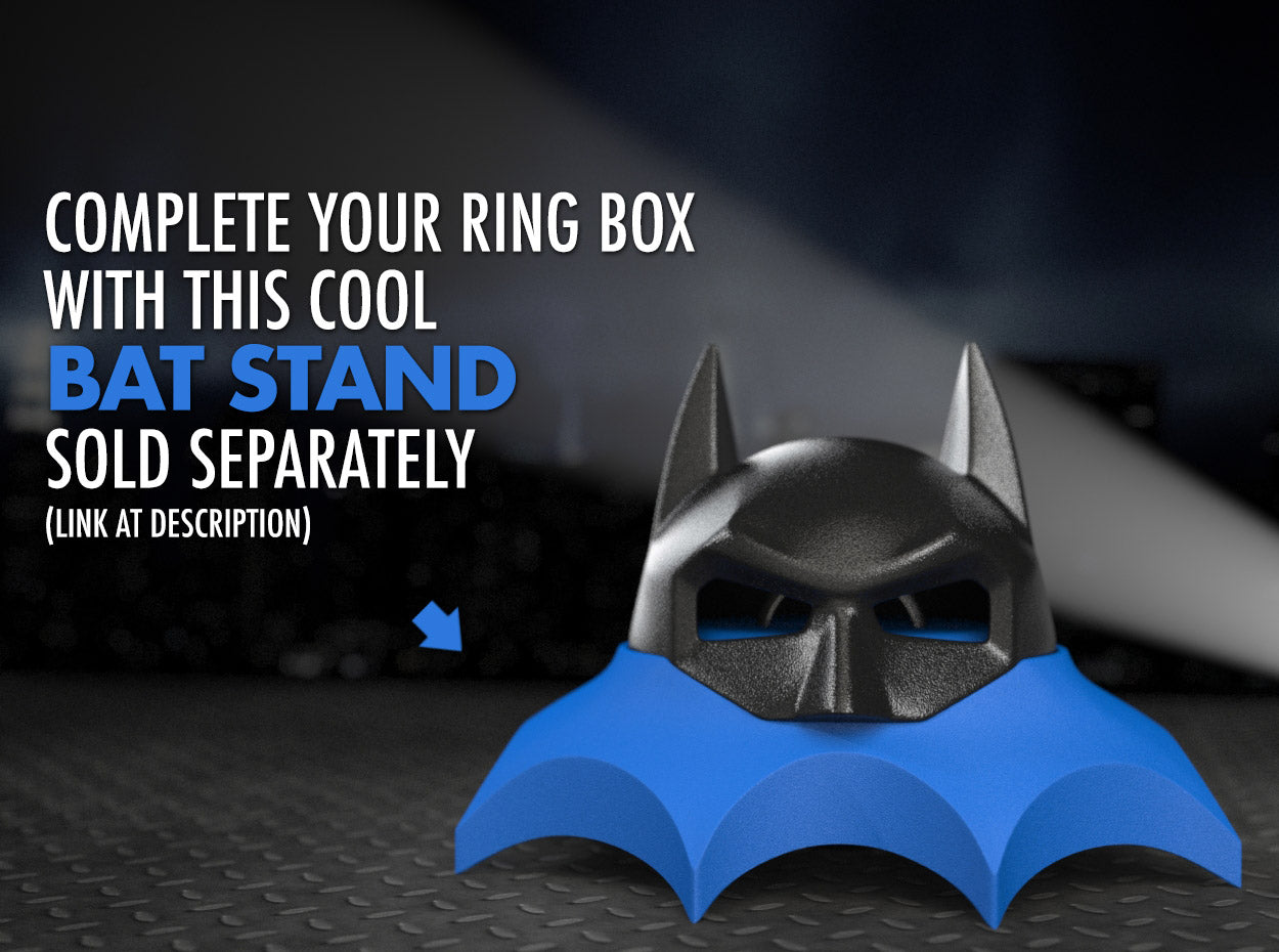 Bat Stand for the Bat Superhero Style Nerd Ring Box