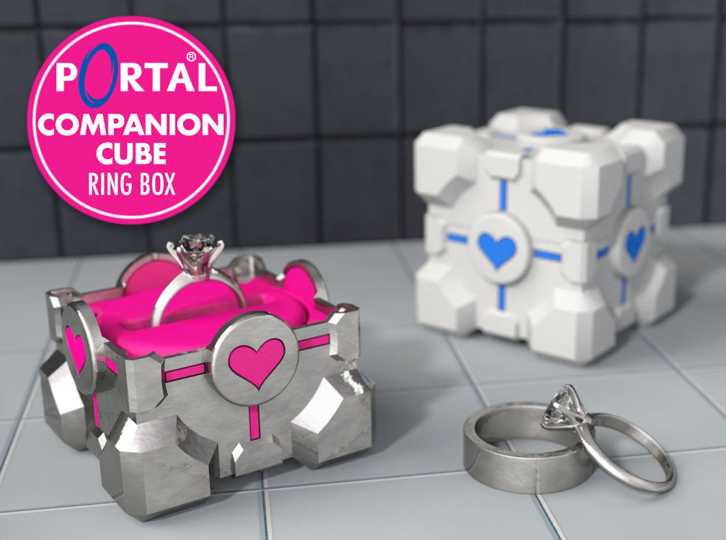 Companion Cube Gamer Geek Ring Box