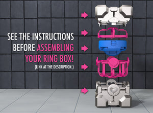 Portal ® Companion Cube Ring / Jewel Box - For Proposal, Engagement, and Wedding.
