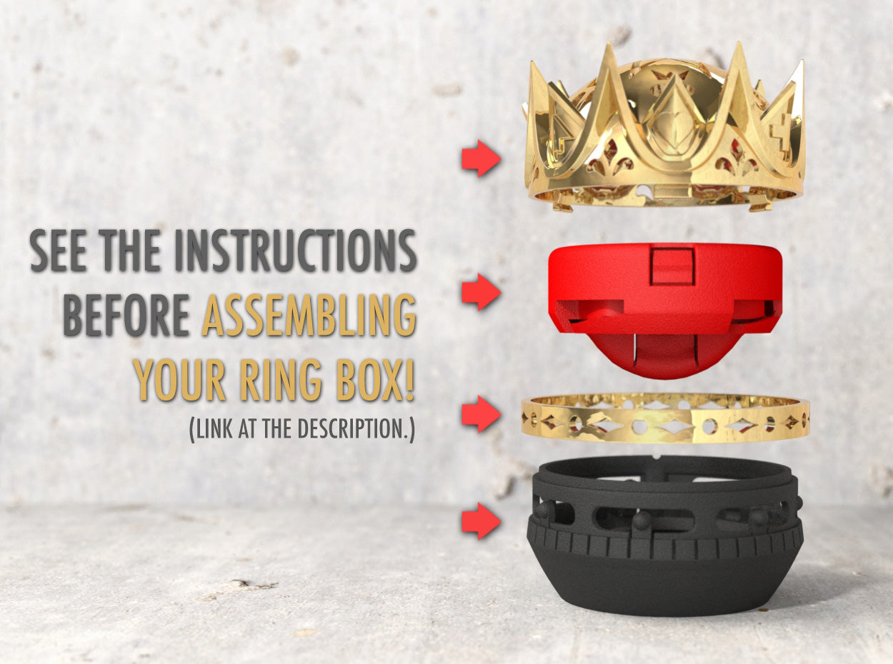 Royal Love Crown Nerd Ring Box Assembly