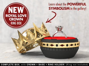 Royal Love Crown Nerdy Ring Box