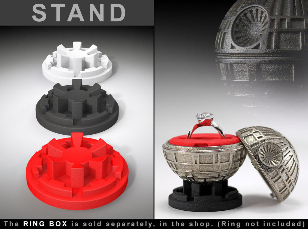 "STAND for the Black Star ""Sci-Fi Movie Style"" Ring Box"