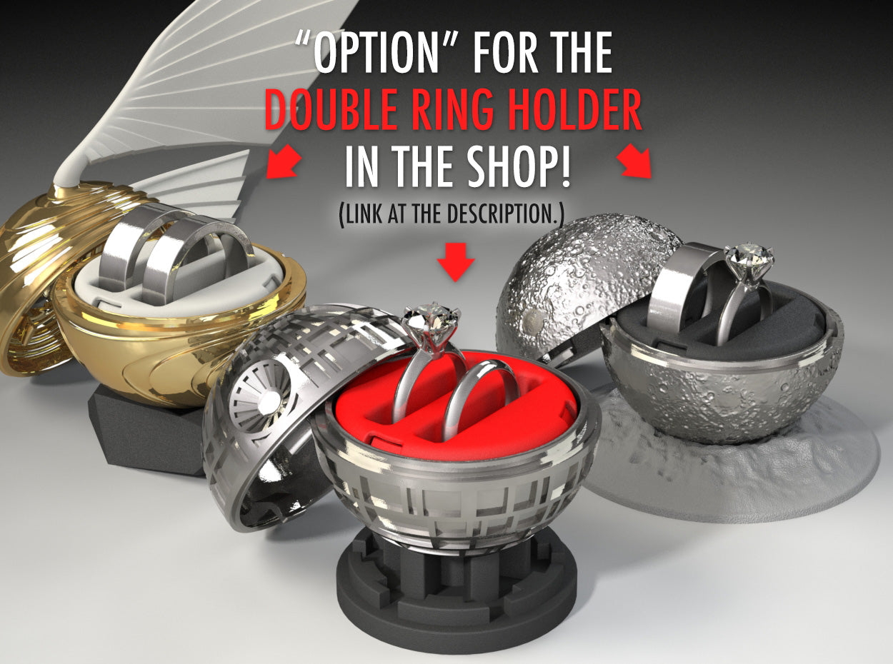 Double Ring Holder options for the Coral Heart Ring Box