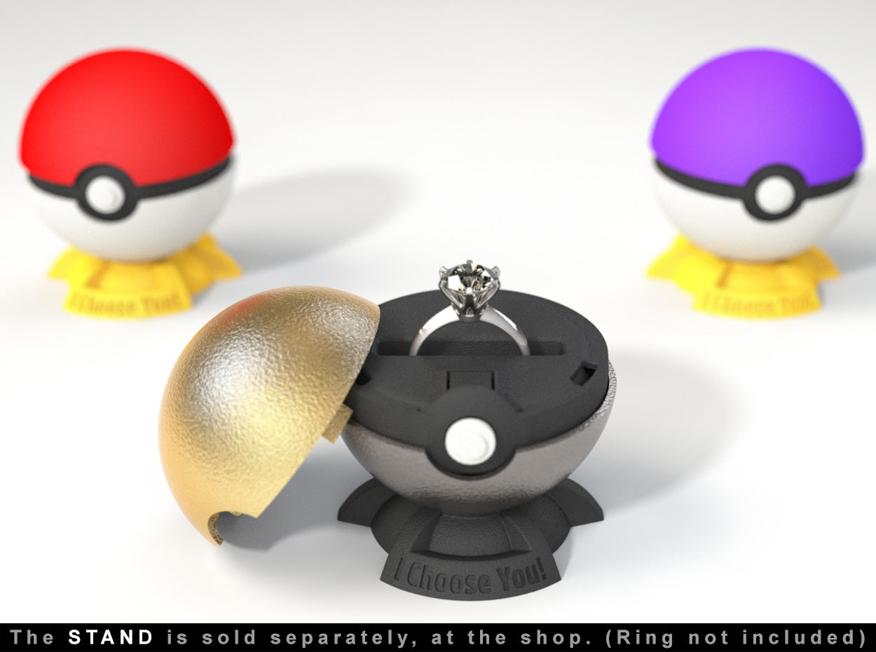 Pokeball Wedding Ring Boxes Color Options