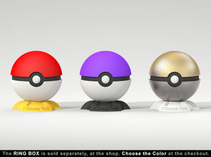 Pokeball Gamer Engagement Ring Box