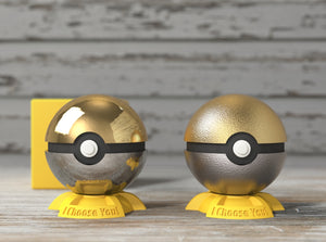 Pokeball Wedding Ring Boxes Metal Options