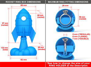 Love Rocket Ring Bearer Box Dimensions
