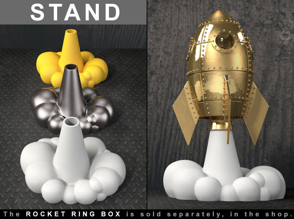STAND for Love Rocket Ring / Jewel Box - For Proposal, Engagement, and Wedding.