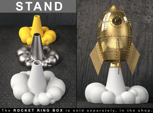 STAND for the Love Rocket Retro Steampunk Ring Box