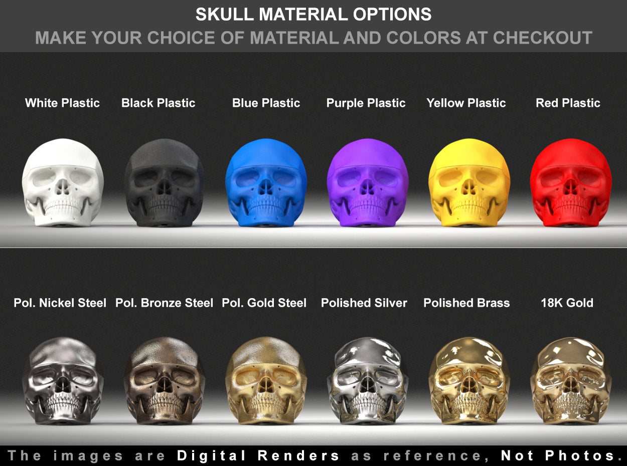 Human Skull Engagement Ring Box material options