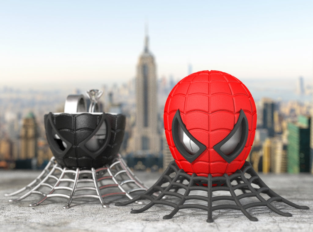 Spider Superhero Style Geek Ring Box