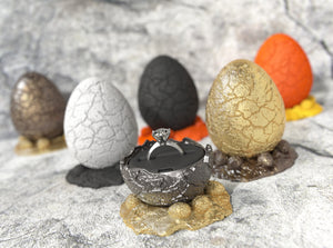 Dinosaur Egg Engagement Ring Boxes Color Options