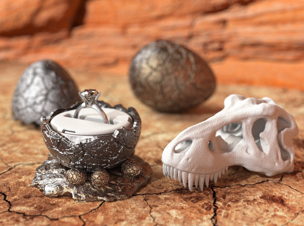 NEST STAND for the Dinosaur Egg Jurassic Nerd Ring Box