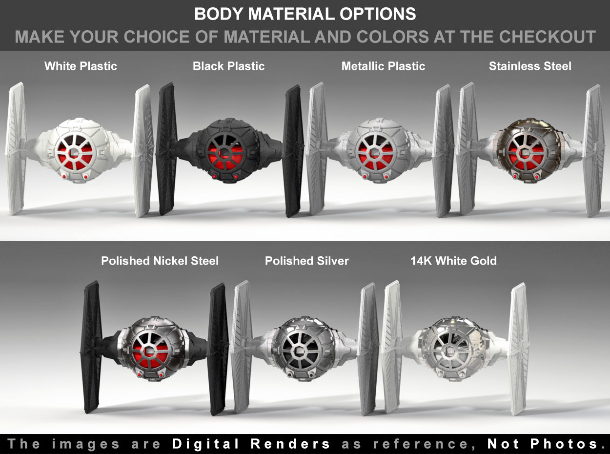 Star Fighter Engagement Ring Box material options