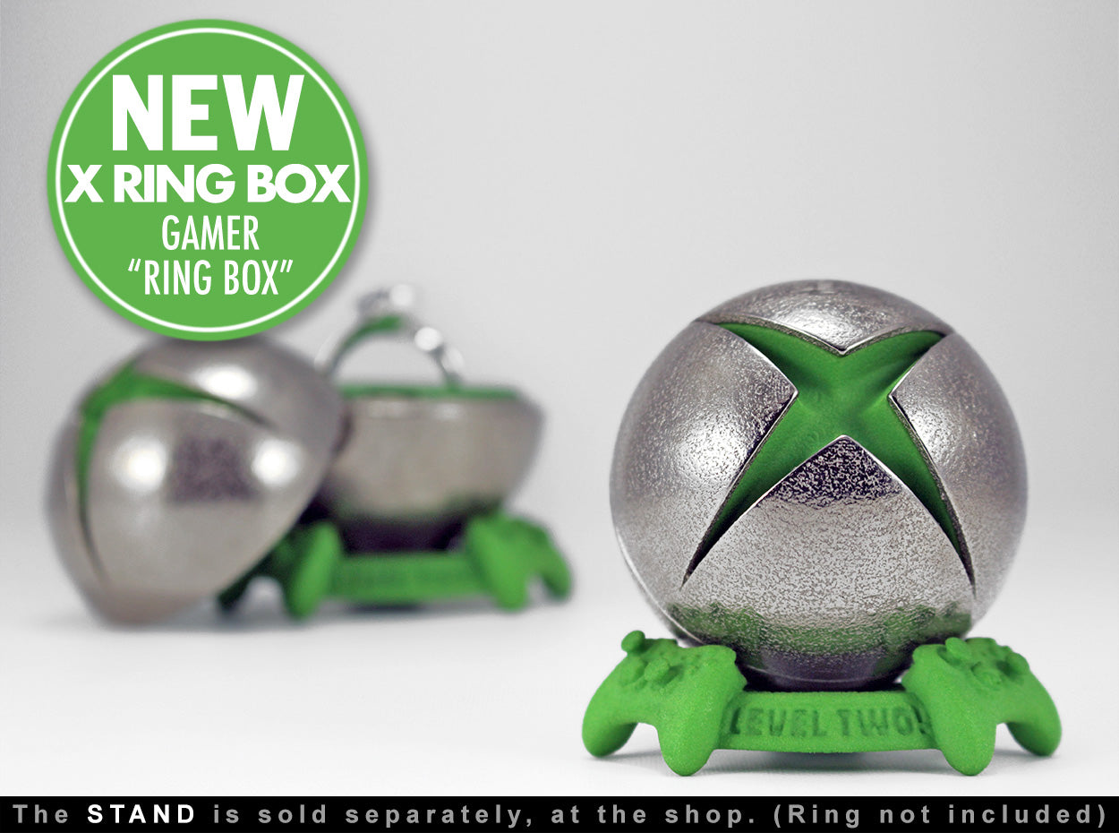 X Ring BOX Geek Gamer Engagement Ring Box