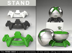 Joystick Stand for the Gamer X Engagement Ring BOX