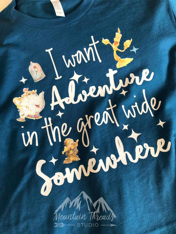 Fast Shipping Glitter Print I Want Adventure In The Great Wide