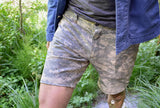 DIGI CAMO _blk label TROUSER SHORTS