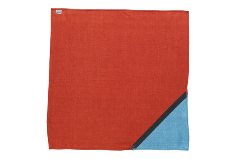 SALE! _blk label 100% raw silk NECKERCHIEF