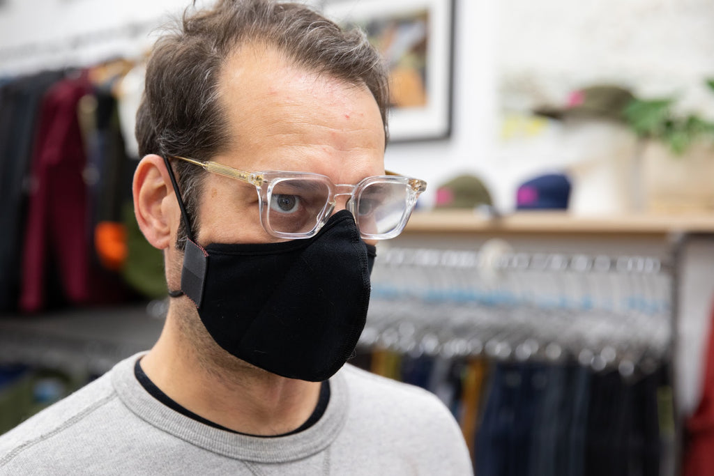 4 LAYER black ponti wool MASK