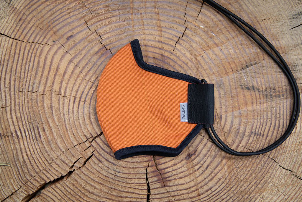 BURNT ORANGE summer cotton MASK