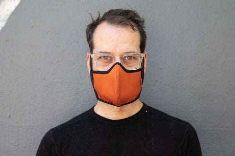 BURNT ORANGE organic summer cotton MASK