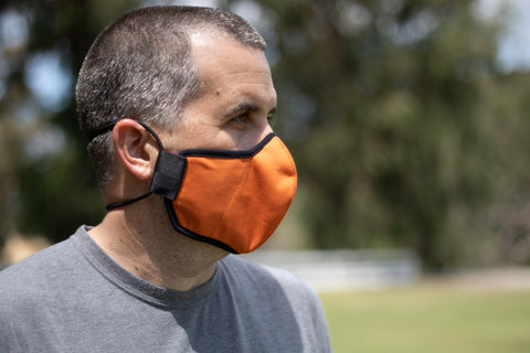 SUNSET ORANGE mid-summer cotton MASK