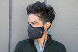 LONG indigo cotton/linen denim MASK