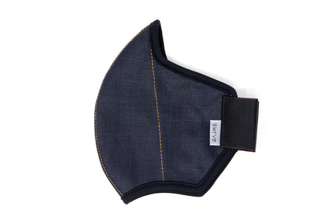 LONG midnight cotton denim MASK