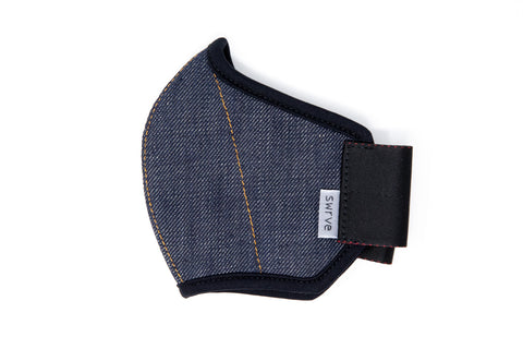 KIDS indigo cotton/linen denim MASK